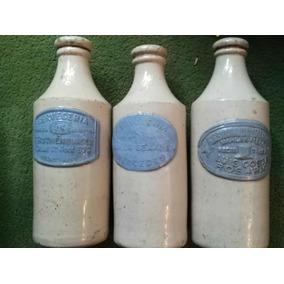 Botella De Cerveza Antigua Ceramica