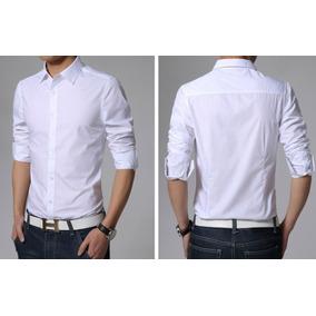 adf72c5d81 Camisa Slim Fit Camisas Masculina Branca Festa Reveillon Fim