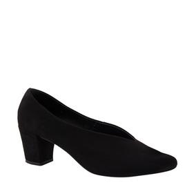 Zapatillas Cerradas Tacon Bajo Y Ancho Mujer - Zapatos en Mercado ... 494d43b234b1