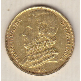 Moeda De Ouro 20.000 Réis 1851 Sob 17,92 Gr 30 Mm R$ 4.600,0