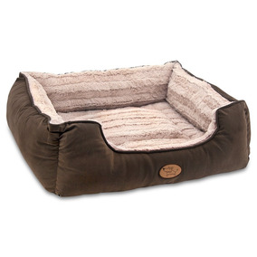 Best Pet Supplies, Inc.. Bps - Faux Leather Square Bed - Dar