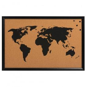 Pizarra Corcho Con Mapa