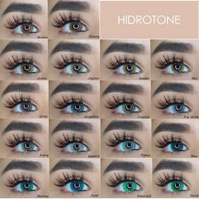 Lentes De Contacto Anuales Hidrotone, 18 Colores Disponibles