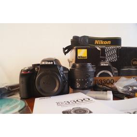 Cámara Nikon D3300 Excelente Trato, Caja Y Recibo De Compra