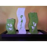 Triptico De Ceramica Porta-velas