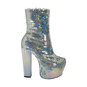 Bota Salto Alto Glitter Furtacor Brilho Dom Amazona Drag 226