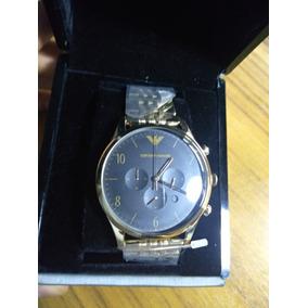 Relógio Masculino Da Emporio Armani Ar1893 Vestido De Ouro