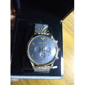 Emporio Armani Masculina Ar1893 Vestido Relógio De Ouro