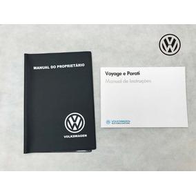 Manual Proprietario Vw Voyage Parati 87 1987 + Capa