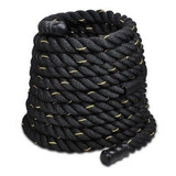 Cuerda Funcional Negra Mangos Crossfit 40 Mm X 10 Mt 8 Kg