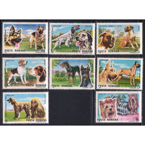 Selos Romenia 1990 Fauna Cachorro Cão Canino Afghan Beagle