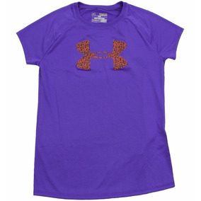 Under Armour Solid Big Logo Playera Para Niñas Talla 5