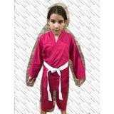 Kimono Infantil Rosa Novo (tamanhos Na Descrição)