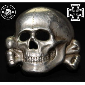 Pin Caveira 2ª Guerra - Réplica Perfeita - Totenkopf - Ss