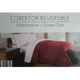 Cobertor Reversible Matrimonial-queen Size Vino Members,nuev