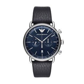 Relógio Empório Armani Classic Aviator Preto Ar11105/0an