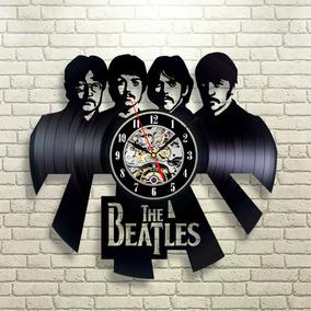 The Beatles 06 - Relógio Disco De Vinil Presente Decoração