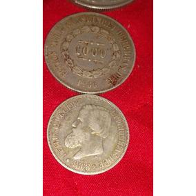 Coleção Moedas De Reis 500, 1000 E 2000 De Prata Raras