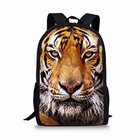 Coloranimal Cool 3d Tiger Head Impresión Mochilas Escolares