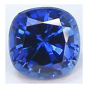 Zafiro Azul Kachemira 0.70 Cts 5x5 Mm Certificado Cushion
