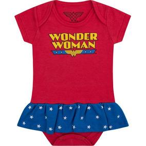 Body Bebê Mulher Maravilha Wonder Menina