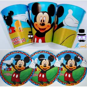 Mickey Mouse 50 Platos Y 50 Vasos Artículos De Fiestas