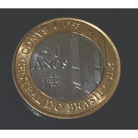 Rara Moeda 1 Real - Banco Central 50 Anos