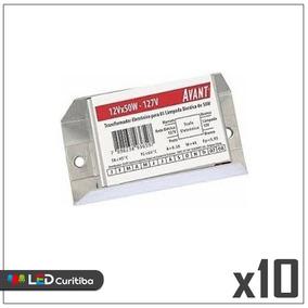 Kit 10 Transformador Eletrônico Para Dicroica 50w 127v