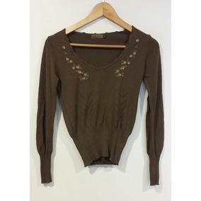 Sweater Mujer Con Bordado Flores - Ropa y Accesorios en Mercado ... 4a2ef514c1fb