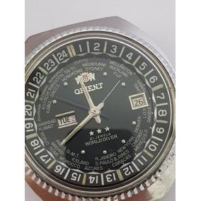 Relógio Orient 3 Cabeças Wd Hora Mundial Funcionando.