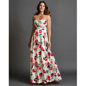 Vestido Largo Marca Shoshanna De Estampado Floral