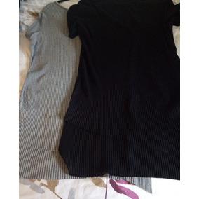 Blusa Tipo Blusón Zara Talla L Gris Y Negro