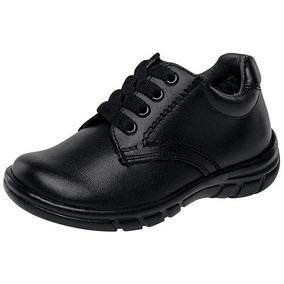 Zapato Escolar Niño Wos E-123 Ng 15-25 Envio Gratis
