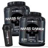 2x Hipercalórico Mass Gainer 3kg + Shaker + Creatina 150g.