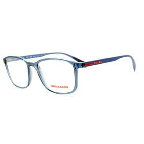 5a6ce668b6f9d Armação Óculos De Grau Unissex Prada Vps04l Czh-101