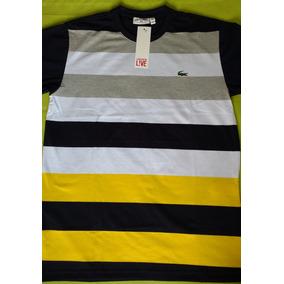 Camisa Lacoste Live Amarela - Camisa Masculino no Mercado Livre Brasil d887a40014