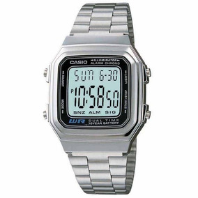 00785cc4a92 Relógio Casio Unissex Social Retrô Vintage Prata Aço - Relógios no ...