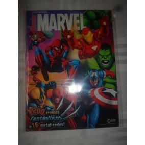 Álbum De Figurinhas Heróis Marvel 2009 Completo