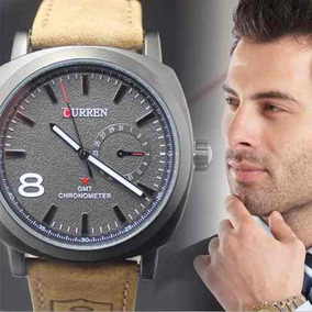 Relógio De Luxo Curren Masculino Preto Branco - Frete Grátis