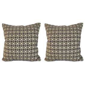 Set De 2 Cojines Decorativos 45x45 - Esquire - Gris