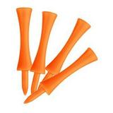 Nuolux 100pcs Tee De Golf De Bajada Tees 70mm - Naranja