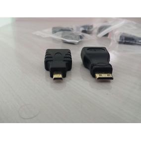Adaptador Mini E Micro Hdmi Para Hdmi, 1080p.