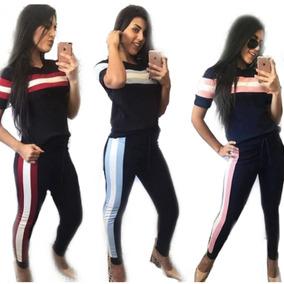 Conjunto Feminino Malha Crepe Tendência Fashion Moda 2019