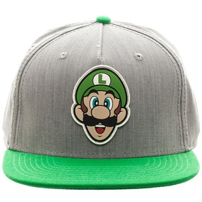 Gorra Snapback Luigi Gris Verde Super Nintendo Think Geek 62a5fdef978