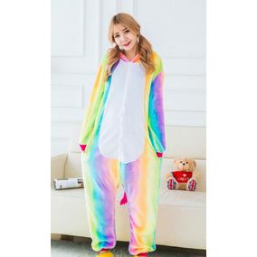 Pijama Unicornio Kigurumi Disfraz Cosplay Arcoiris Color
