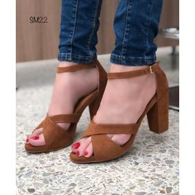1d8c0e075c7bf Sandalias De Tacon Grueso De Moda - Zapatos para Mujer en Mercado ...