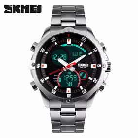 8e8c18cc476 Relógio Skmei Anadigi Militar Modelo 1146 Original Prata