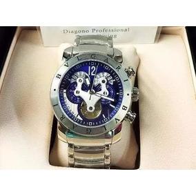 Relogio Bulgari Masculino Automatico Fundo Azul - Relógios De Pulso ... 5fdf2043d5