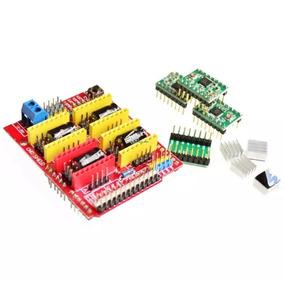 Modulo Cnc Shield V3 + 4x Driver A4988 Robotica Arduino
