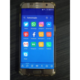 Smartphone Samsung Sm G935f S7 Edge 32gb Usado Vidro Trincad